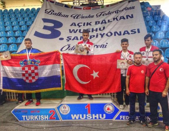 Sporcumuz Batuhan ÇayanWushu Balkan Şampiyonu Oldu