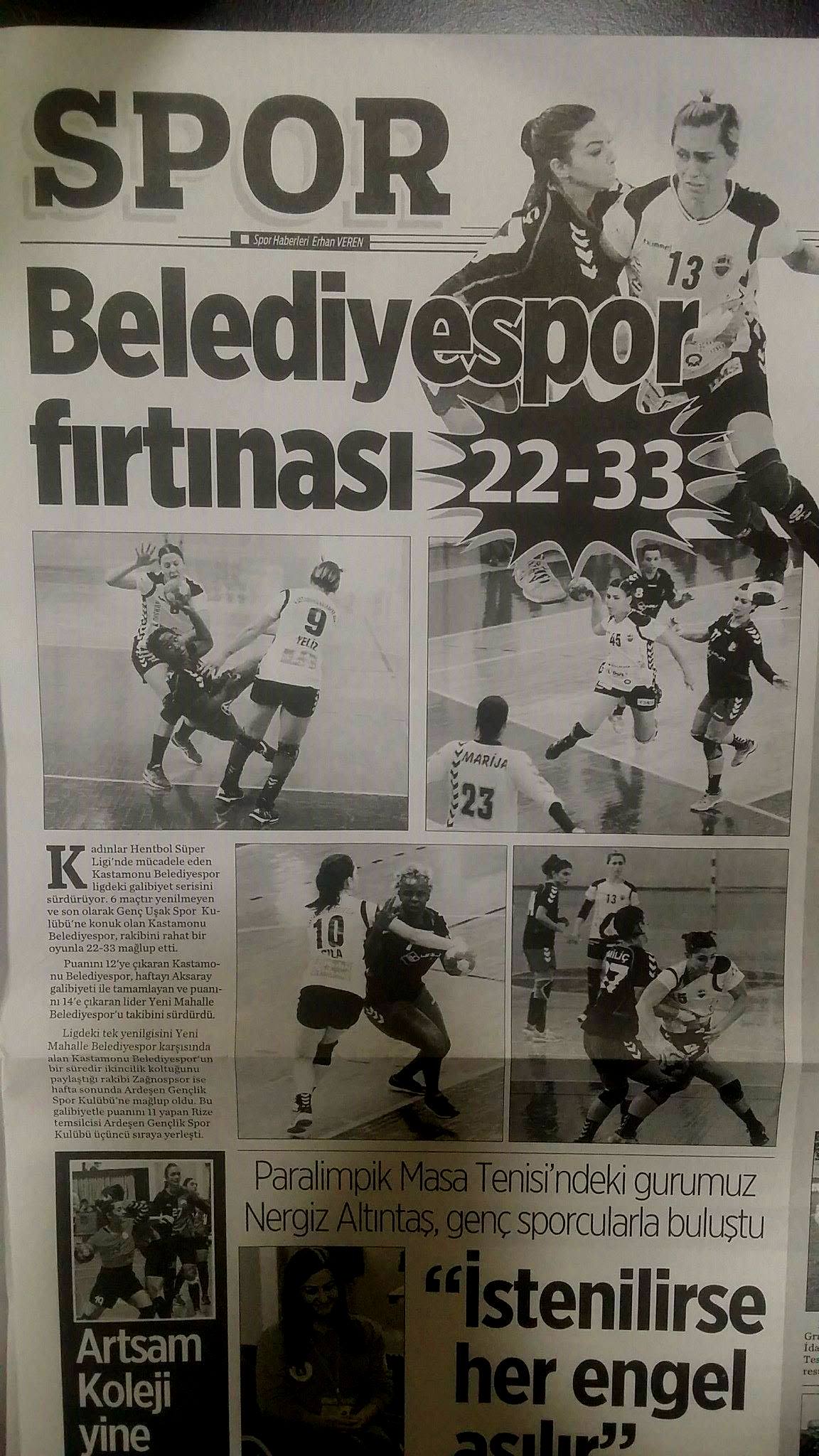 Genç Uşak Spor Kulübü 22- Kastamonu Belediye GSK 33