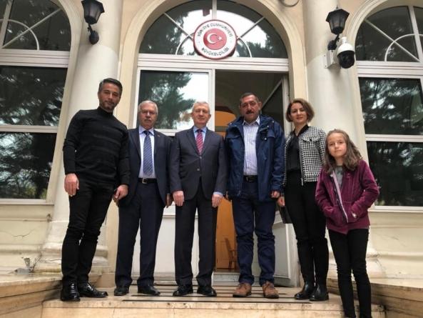Macaristan'da, Türkiye Cumhuriyeti Budapeşte Büyükelçisi'ne Ziyaret