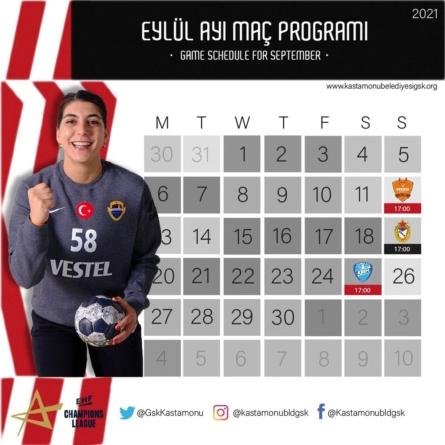 Şampiyonlar Ligi Eylül ayı programımız